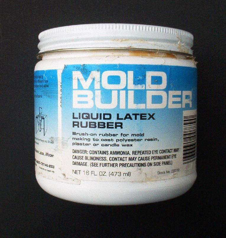 Latex rubber mold material